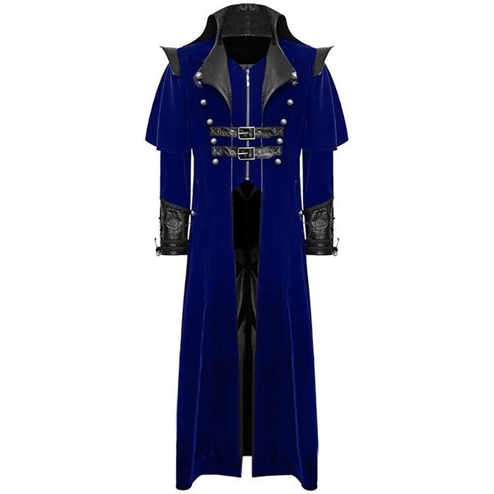 Zolimx Blazer Uomo Cappotti Uomo Invernal, Uomo Stampa Cappotto Frac Giacca Gotico Redingote Uniforme Costume Partito Outwear