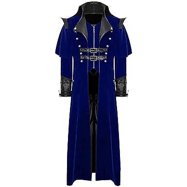 Homme Manteau Veste Queue-de-Pie Steampunk Gothique Blouson Fashion  Aristocrate Déguisement Costume Cosplay 3a241f4ec3c