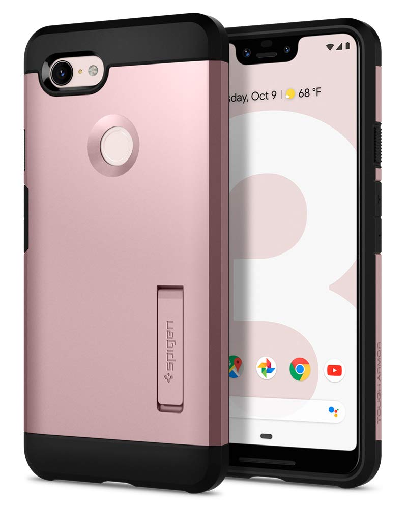 Spigen Tough Armor with Extreme Heavy Duty Protection and Air Cushion Technology Designed for Google Pixel 3 XL Case (2018) - Rose Gold F20CS25025