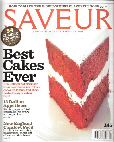 Saveur 2012 March - Best Cakes Ever (The Best Baby Back Ribs Ever)