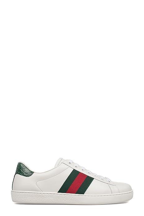Gucci Hombre 386750A38309071 Blanco Cuero Zapatillas: Amazon.es: Zapatos y complementos