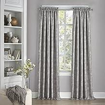 "Eclipse 15455052108SMK Mallory Blackout Floral Window Curtain Panel, 52"" x 108"", Smoke"