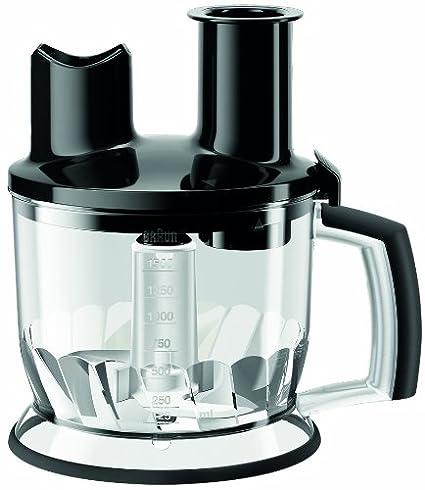 Braun Minipimer MQ70 Accesorio procesador de alimentos, 2 herramientas para triturar, 1.5 L, acero inoxidable, plástico, negro: Amazon.es: Hogar