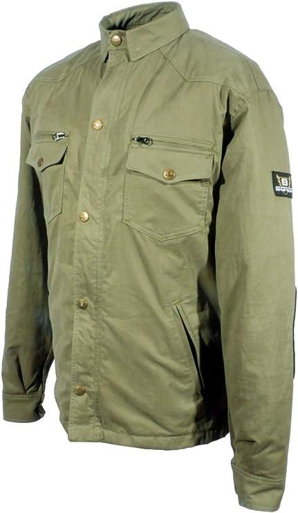 Bores Military Jack Olive - Camisa para moto: Amazon.es: Coche y moto