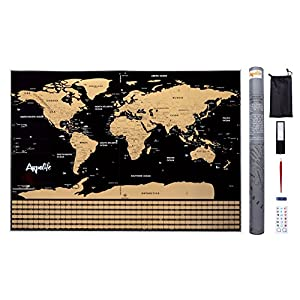 ARPELIFE Mapa Mundi para Rascar – Scratch World Map – Póster Grande (82,00 x 59,00 cm) del Mundo Ideal para Tus Viajes…