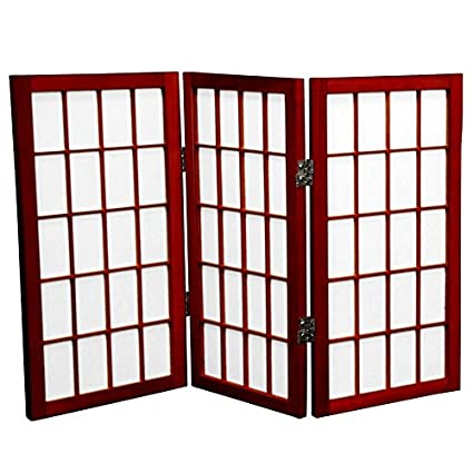 amazon com oriental furniture 2 ft tall desktop window pane shoji