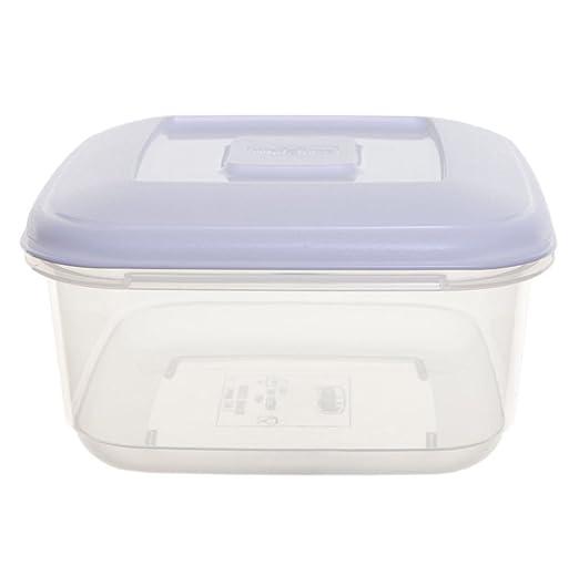WHITEFURZE - Fiambrera cuadrada de plástico para tartas de ...