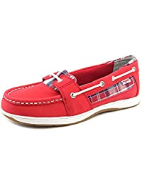 Ryka Womens Orleans Leather Moc Toe Boat Shoes
