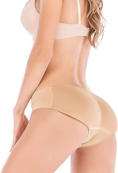 LYZ Women Sponge Butt Padded Underwear Shaper Briefs Fake Ass Shapewear