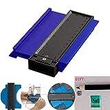 Neepanda Plastic Contour Gauge Duplicator, Ruled Contour Duplication Gauge 4 Inch, Shape Duplicator, Circular Frame Profile Gauge Tool, Precisely Copy Irregular Shapes and Easy Cutting (Blue)