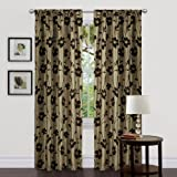 Lush Decor Triangle Home Fashions 18771 84-Inch Garden Blossom Curtain, Green/Brown, Panels Review