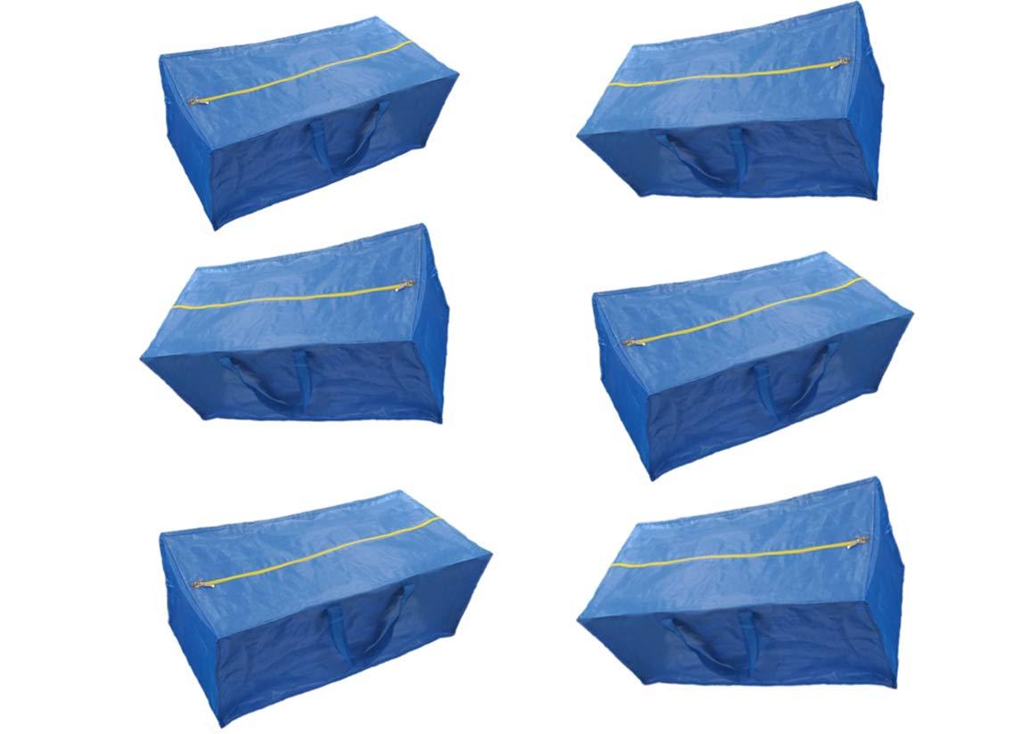 ファスナー付きストレージバッグ、Extra Large – ブルー – と互換性IKEA fratkaストレージバッグトロリー ブルー B074BHY3HP  6