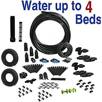Amazon Com Standard Drip Irrigation Kit For Raised Bed