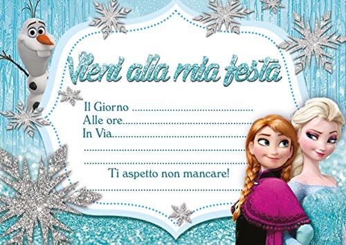 10 Inviti compleanno invito festa Il Regno Di Ghiaccio Frozen in Italian ABV Designs