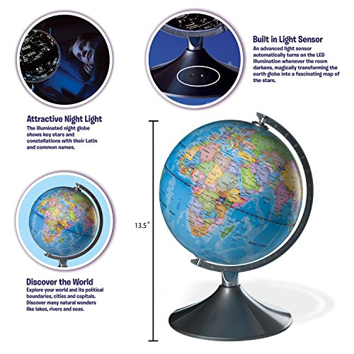 Interactive globe for kids 2 in 1 day view world globe and night interactive globe for kids 2 in 1 day view world globe and night view gumiabroncs Image collections