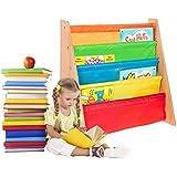 FiNeWaY@ - Scaffale con mensole estraibili per libri, di alta qualità, adatto per bambini da 3 anni in su MULTICOLOURED