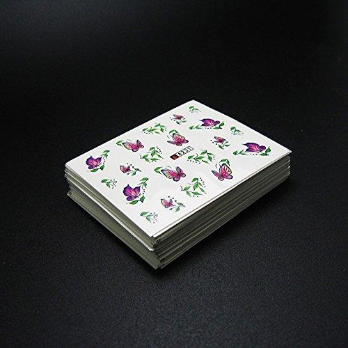 受粉者結核和らげる50枚ネイルシールの花混在デザイン水転送ネイルアートステッカーウォーターマークデカールDIYデコレーション美容爪用ツール