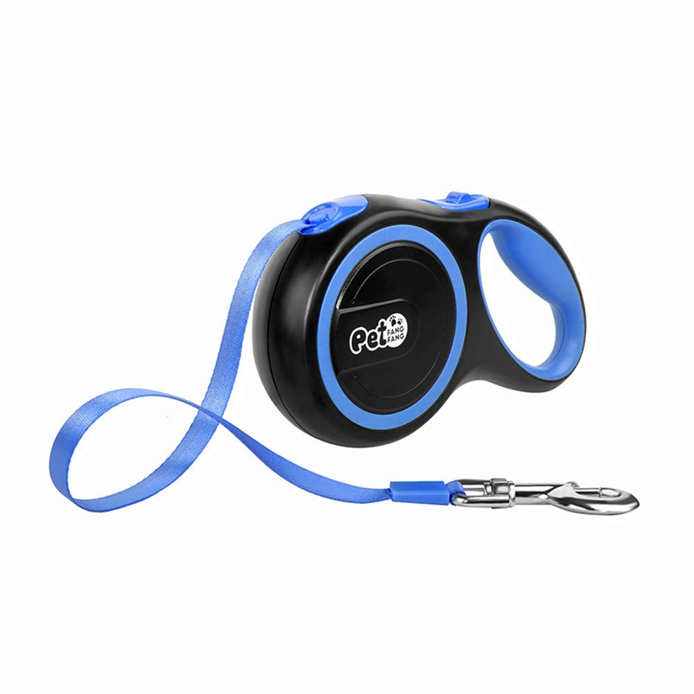 bluee SmallRetractable Dog Leash,Dog Walking Leash for Medium Large One Button Break&Lock System, Comfortable Ergonomic Hand Grip