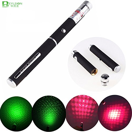 High Green Power Laser (Green 5mW, Black : LED High Power laser 5mW 10mW 20mW 30mW 50mW Sight device Green Red Laser Pen Professional Lazer pointer teaching flashlight)