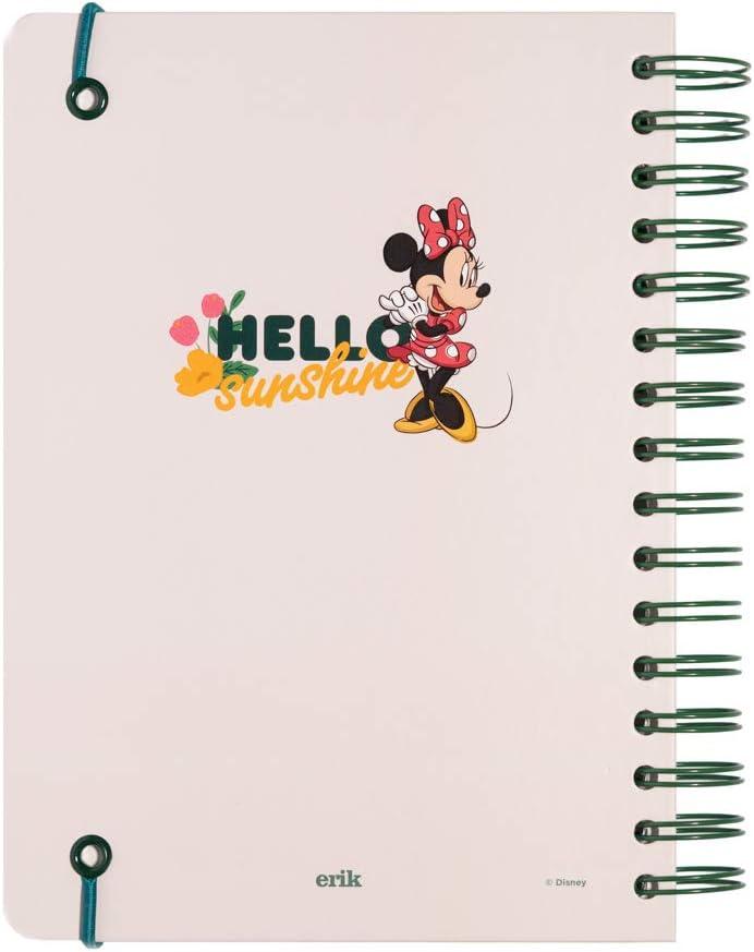 180 pagine con carta davorio di alta qualit/á Bullet Journal puntinato Disney Minnie Mouse dimensioni quaderno A5 con copertina rigida e chiusura elastica