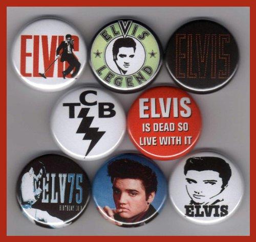 Elvis Presley Set of 8 - 1 Inch Buttons