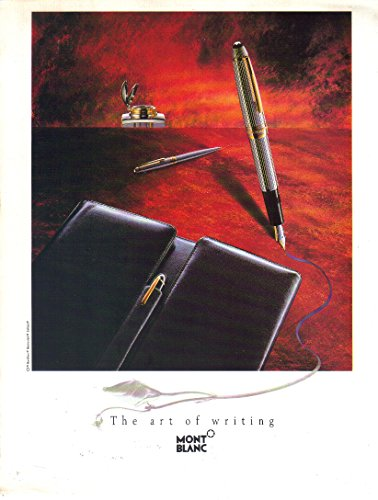 COLLECTIBLE ADVERTISING Magazine Print Ad: 1992 MontBlanc Meisterstück LeGrand Solitaire Fountain pen, The Art of Writing