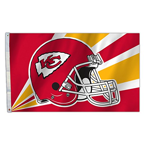 (NFL Kansas City Chiefs 3 by 5 Foot Flag)