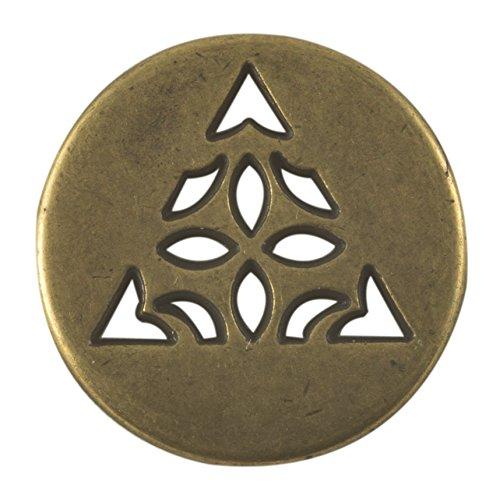 Celtic Triangle Button – Antique Brass Finish. 3/4