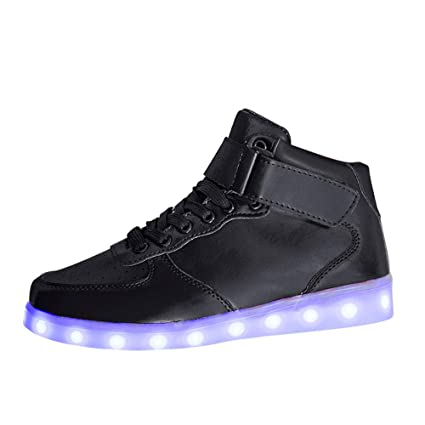 Dreamyth Unisex Sport Lace-Up Shoes Neutral Led Luminous Shoe USB Charging Light Up Sole