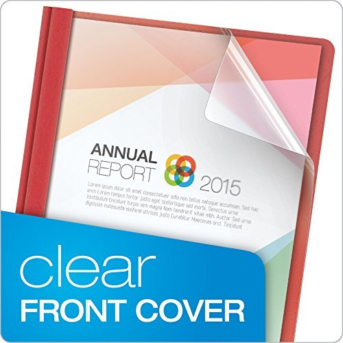 Oxford Clear Front Report Covers, Letter Size, Assorted Colors, 25 per Box (55813) Color: Clear, Model: 55813, Office/School Supply Store