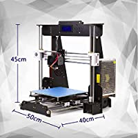 Perfect-Office A8-W5 3D Printer DIY Wood high-Precision LCD Desktop 3D Printer kit, Comes with a Free 1.75mm PLA Printer Filament Build Size 220 × 220 × 240mm (self-Assembly) (Black) by Perfect-Office