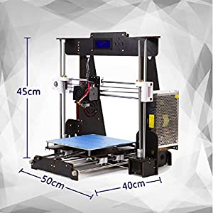 Perfect-Office A8-W5 3D Printer DIY Wood high-Precision LCD Desktop 3D Printer kit, Comes with a Free 1.75mm PLA Printer Filament Build Size 220X220X240mm (self-Assembly) (Black) (Black) by Perfect-Office
