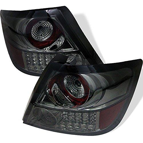 [For 2005-2010 Scion tC] VIPMOTOZ Premium LED Tail Light Lamp - Chrome Housing, Smoke Lens, Driver & Passenger Side