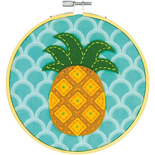 fts 72-75112 Pineapple, Learn a Craft Felt Applique Kit ()