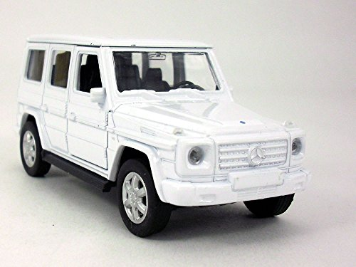 MERCEDES-BENZ G-Class (G500) Wagon 1/32 Scale Diecast Metal Model -WHITE (Wagon Car Diecast Model)