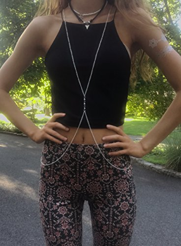 Body Chains for Teens & Women - Trendy Fashion Belly Jewelry Necklace Dresses Up Any Outfit (Silver) by Off the Chain (Image #3)