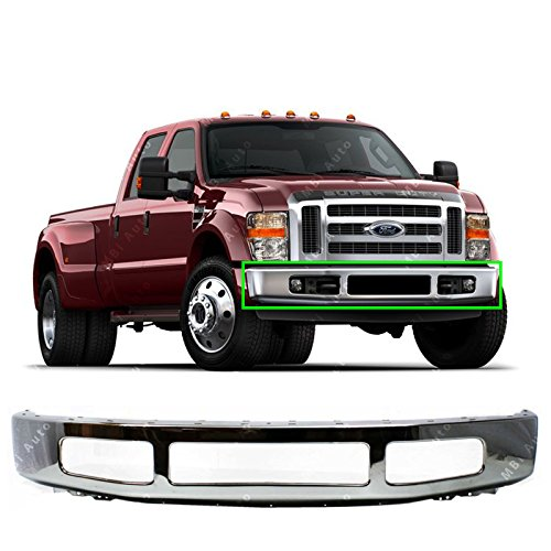 MBI AUTO - Chrome, Steel Front Bumper Fascia for 2008 2009 2010 Ford F450 F550 Super Duty 08 09 10, FO1002404
