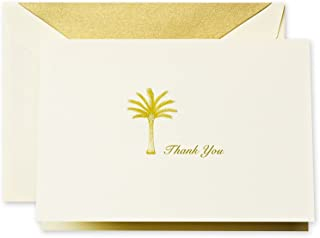 product image for Crane & Co. Hand Engraved Palm Tree Thank You Note (CT1421)