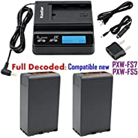 Kastar Fast Charger and BP-U96 Battery (2X) for Sony BP-U90 BP-U60 BP-U30 and PXW-FS7/FS5/X180 PMW-100/150/150P/160 PMW-200/300 PMW-EX1/EX1R PMW-EX3/EX3R PMW-EX160 PMW-EX260 PMW-EX280 PMW-F3/F3K/F3L