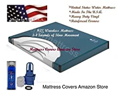 This 95% waveless waterbed mattress is designed to have just a little bit of movement when compared to a free flow waterbed mattress. The fiber inside will contour to your body and the extra fiber in the mid section will help you sink into th...