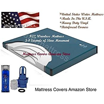 Amazon.com: King Size 76x 80 Cotton Pillowtop Softside ...