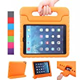 NEWSTYLE Apple iPad Air 2 Case Shockproof Case Light Weight Kids Case Super Protection Cover Handle Stand Case for Kids Children For Apple iPad Air 2 (2014 Released) - Orange Color