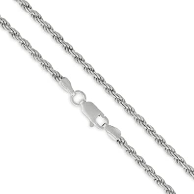 1b4e901662458 Authentic Solid Sterling Silver 2.5mm Rope Diamond-Cut Braided Twist ...