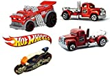 Hot Wheels New Casting 2015 Turbine Time FIRE Truck &Police Motorcycle & Backdrafter Hot Rod Set HW Rescue Canyon Carver in PROTECTIVE CASES