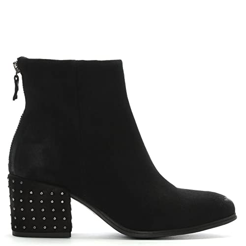 3af5704d8bb Daniel Moorish Black Suede Studded Block Heel Ankle Boots 37 Black ...