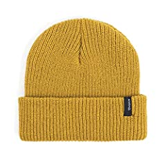 The heist is a standard acrylic 1x1 rib-knit beanie with a Brixton woven label at cuff. Made in the U.S.A.