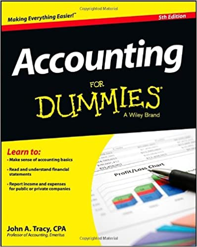 Accounting For Dummies: John A. Tracy: 8601400051115: Amazon.c ...