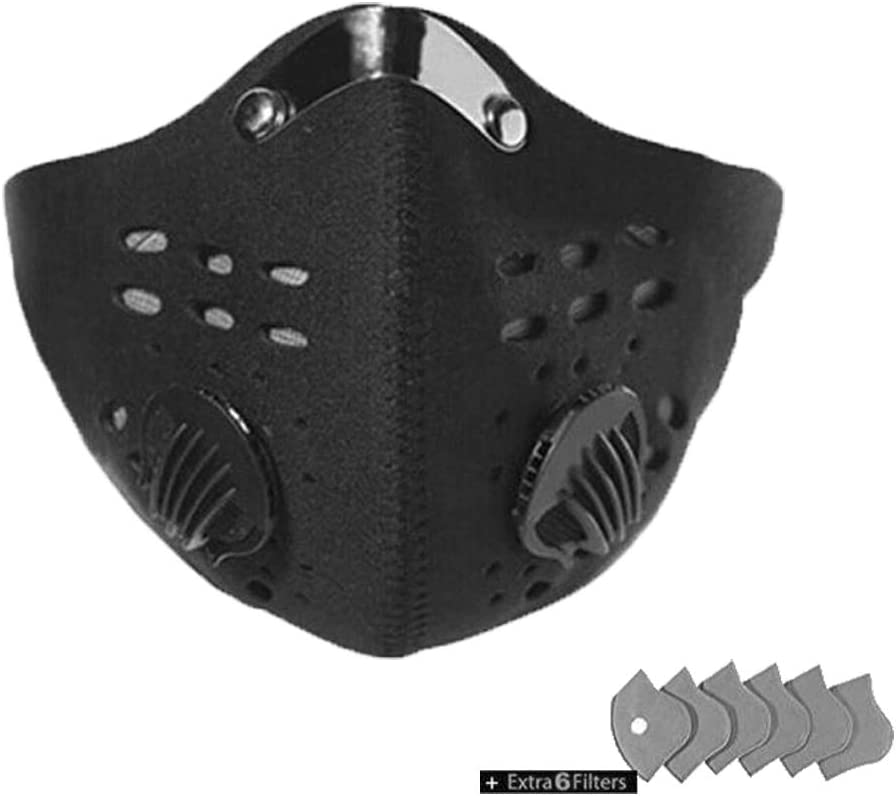 Outdoor Cycling Running Sport Half Face Mask with carbon Filter with valves*