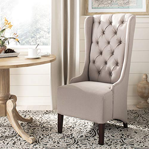 Safavieh MCR4501M Mercer Collection Becall Dining Chair, Taupe
