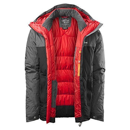 Men's Jacket Down Black Pinnacle XT Granite Kathmandu RqwF700